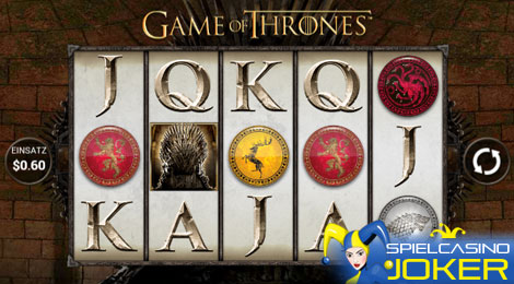 Game of Thrones Spielautomat auf dem Handy